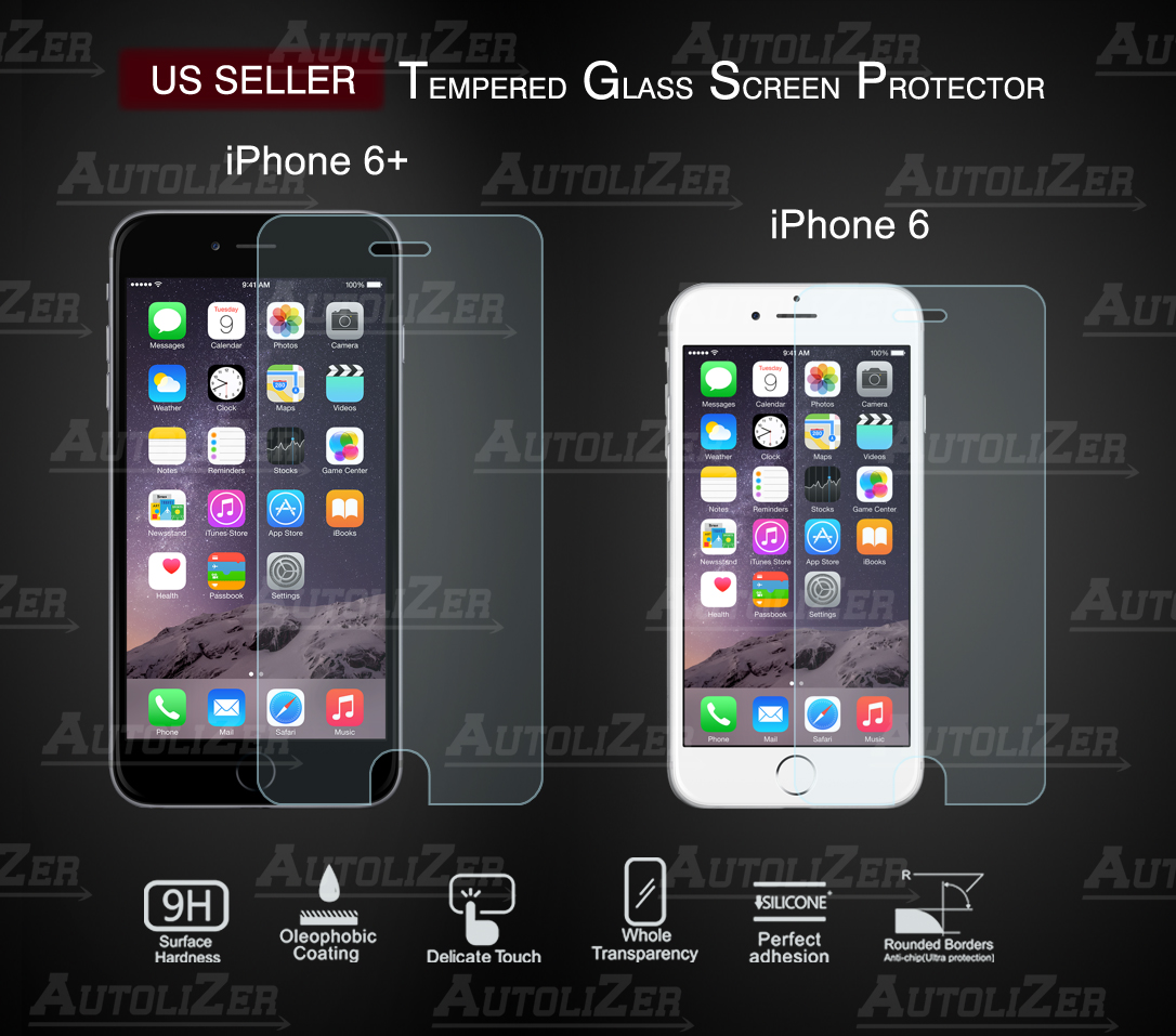 premium real tempered glass film screen protector for iphone 6 4 7 6 plus 5 5 ebay. Black Bedroom Furniture Sets. Home Design Ideas