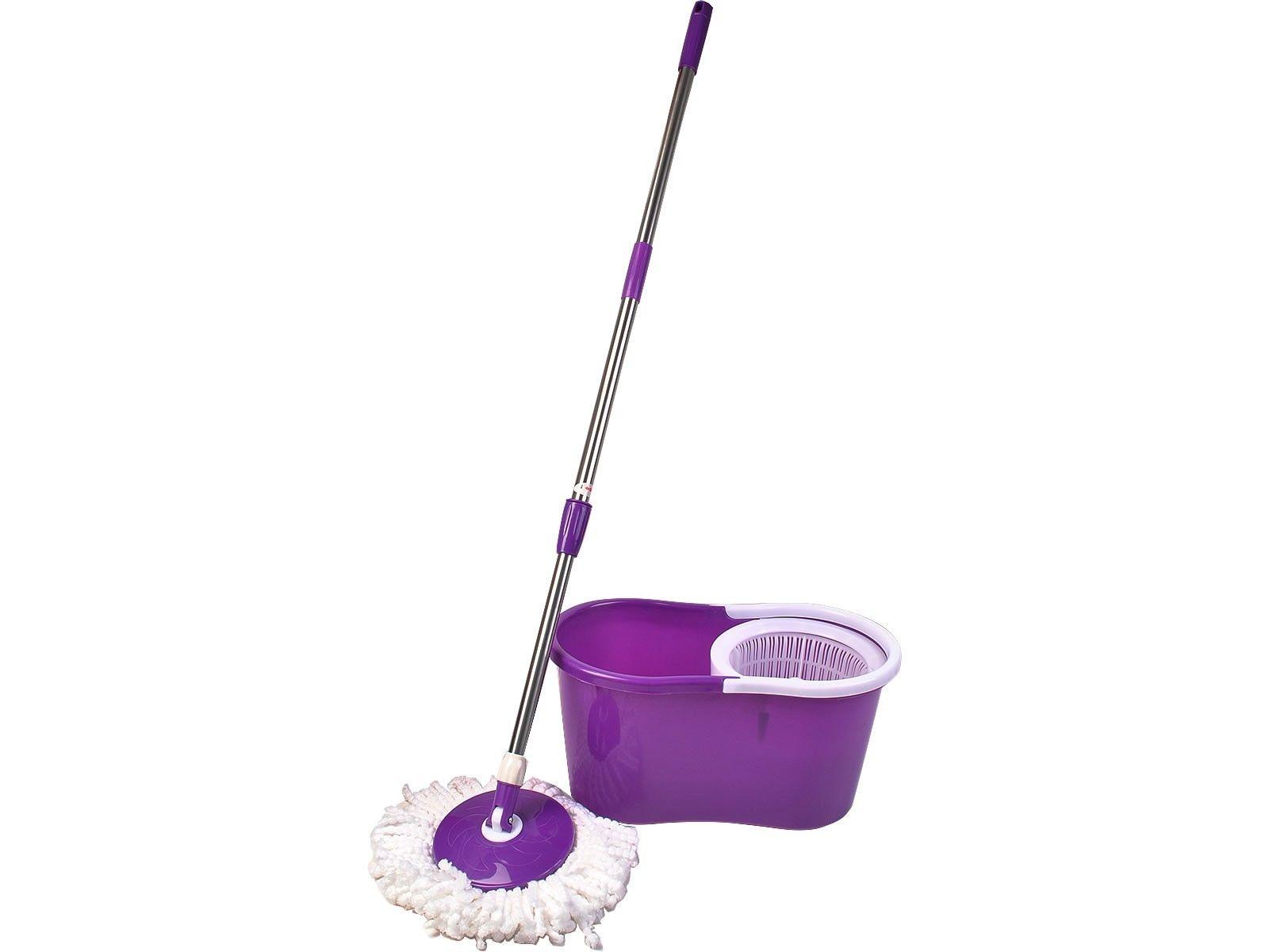 360 176 Rotating Head Easy Magic Floor Mop Bucket 2 Head