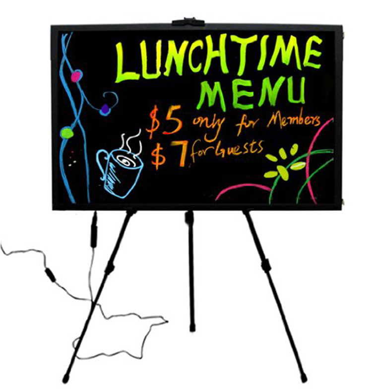 led writing board Neon write-on boards available in 4 sizes, these frameless led message signs are perfect for just about any business made from the same anti-scratch pmma board as our flashing led write-.